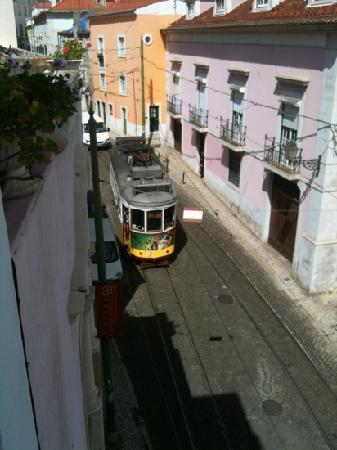 Ariel view from Alfama Patio Hostel.