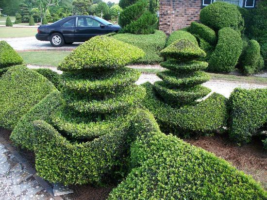 Fryar's Topiary Garden: stacked mushrooms
