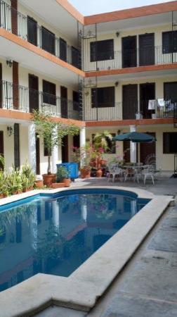 In the courtyard of Hotel San Juan