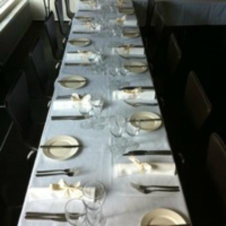Restaurant 65 table set for function
