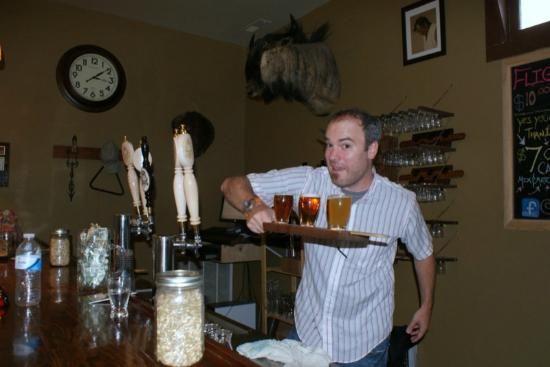 Eastern Shore Brewing: Our friendly bar tender