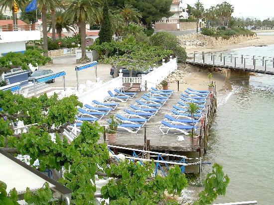 Hotel Juanito Platja: Zona de playa en el hotel