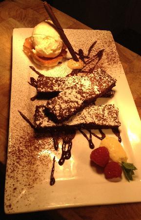 Kashu: Dessert - Beetroot & Chocolate Brownie