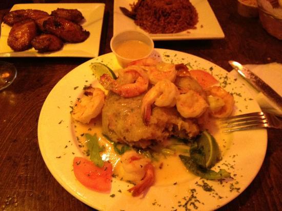 Rumba Cubana Restaurant: Mofongo con camarones