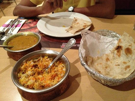 Spice of India : This is the food that cost RM$90 with two glasses of drinks.