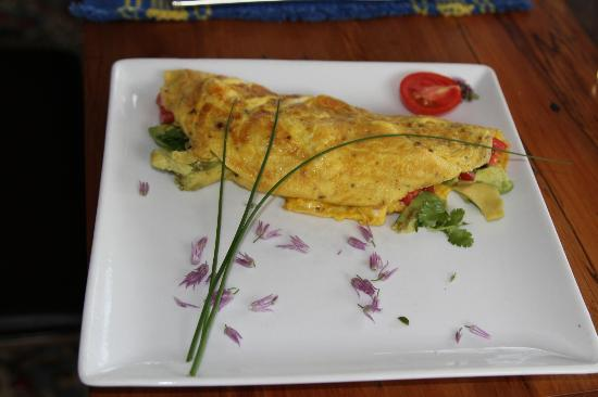 A Culinary Experience Luxury B and B: Morning omlette with fresh chives