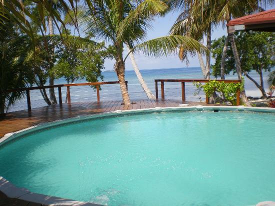Hatchet Caye Resort: The pool