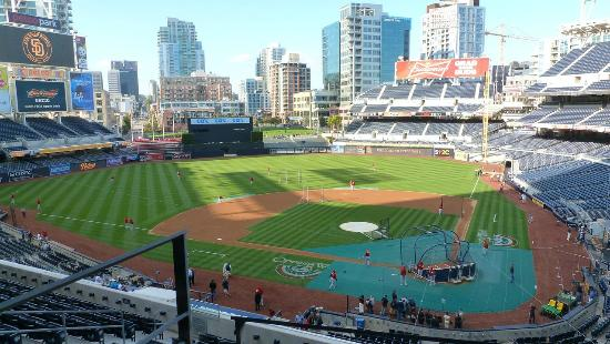 Petco Park : Petrco Park from the press box