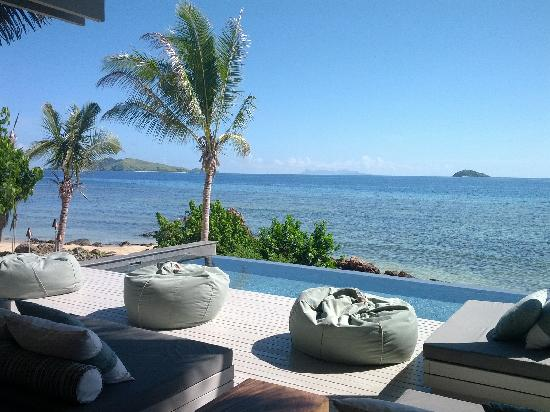 Tadrai Island Resort: View from where we had lunch/dinner every day