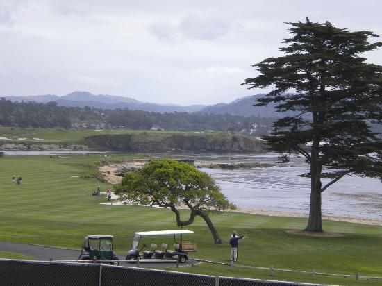 The Tap Room: View from Lodge @ Pebble Beach outdoor seating