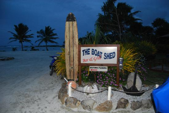 The Boat Shed Bar & Grill: Sign