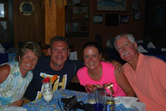 The Boat Shed Bar & Grill: Friends from the UK.