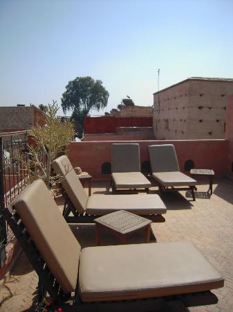 Riad Turquoise: solarium