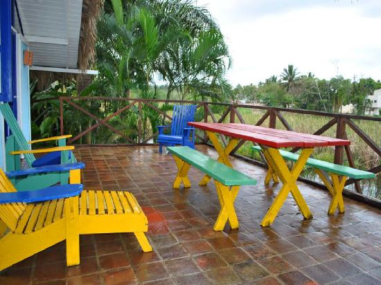 Cabarete Surfcamp: Terrace of the Tarzan House and view to the lagoon
