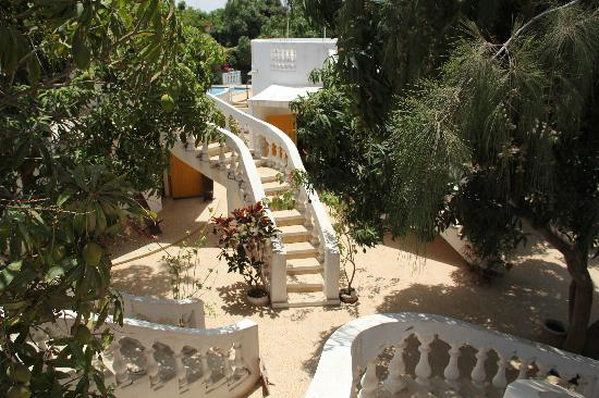 Les Manguiers : les escaliers des bungalows