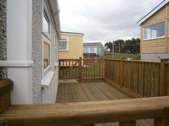 Toms Holidays : Decking area of F56 chalet