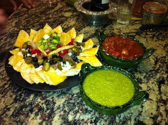 Jane Butel Cooking School: Colorful nachos and salsas