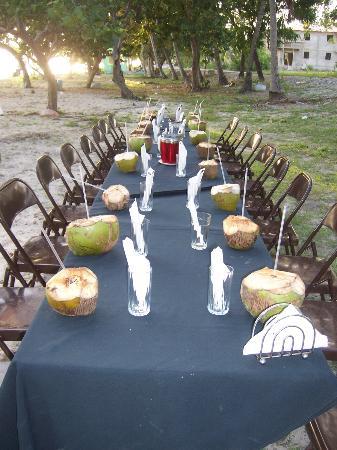 Fortress Inn: Our farewell dinner on the beach
