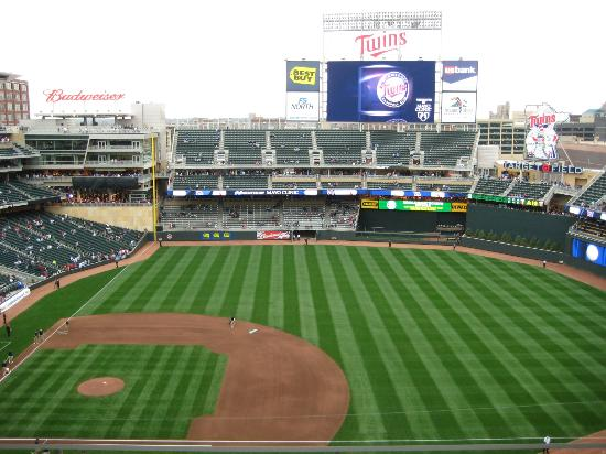 Outfield bleacher seats - Picture of Target Field ...