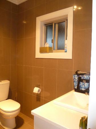 Silver Earth Accommodation: Opening window as well as light/heat/fan in ceiling