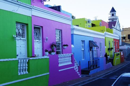 Afrika Selatan: Colourful Houses, Cape Town