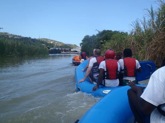 Jaital Being Towed To Our Final Destination After The River Rafting