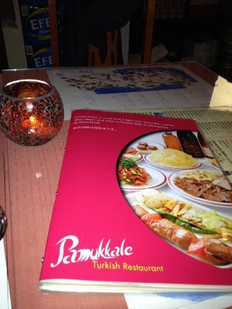 Pamukkale: Menu e Tavolo