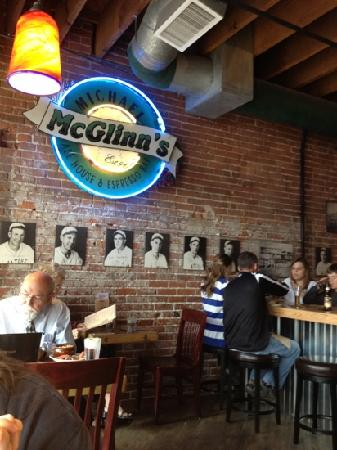 McGlinn's Public House: by the window