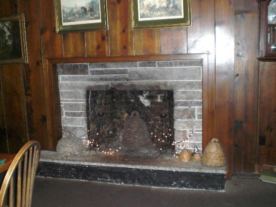 Bee-Hive Tavern : Bee hive neat old fireplace