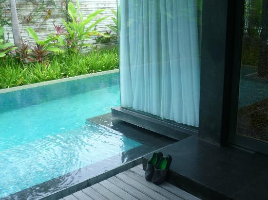 SILQ Private Residences Kerobokan Bali: view from the pergola area