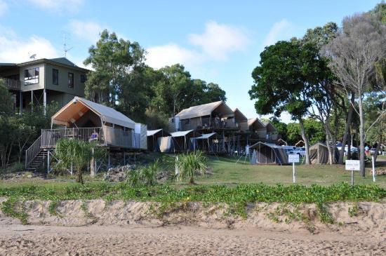 "Agnes Water Beach Holidays : Caravan park ""tree houses"""
