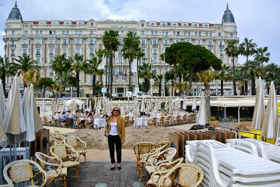 Intercontinental Carlton Cannes View Of Hotel From Famous Beach And Pier