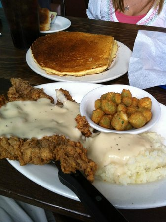 Mr. Tim's Country Kitchen: Chicken Fried Steak with Mash Taters and Okra!