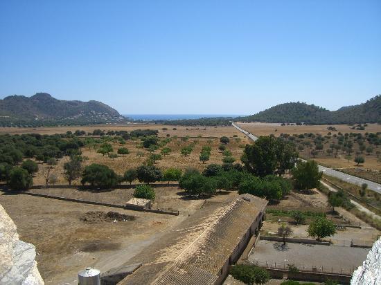 Torre de Canyamel: view from the Torre, facing Canyamel beach.