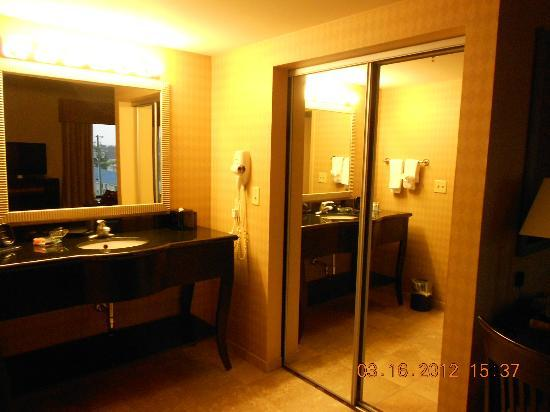 Hampton Inn and Suites Knoxville North: Sink area