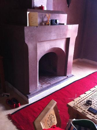 Le Domaine de L'Ourika: Fireplace