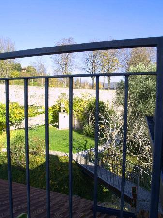 Villa Rina: view of garden from balcony