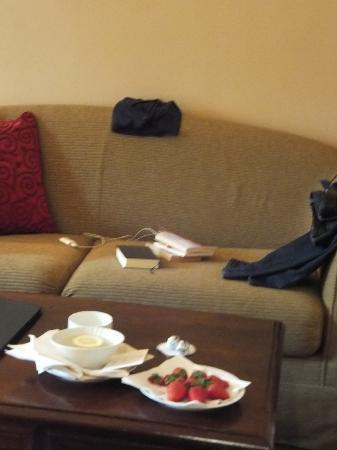 Park Hotel Ai Cappuccini: Fragole in stanza all'arrivo + baci Perugina