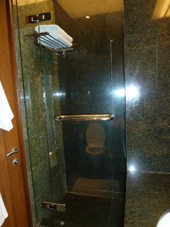 The Manor: granite bath and shower