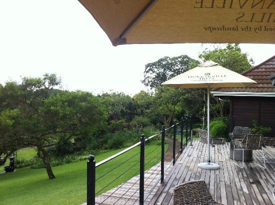 Makaranga: Breakfast terrace