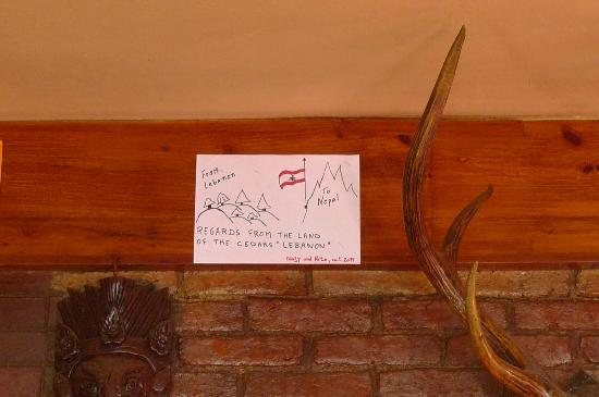 Niva Niwa Lodge: our drawing placed in the hotel reception area