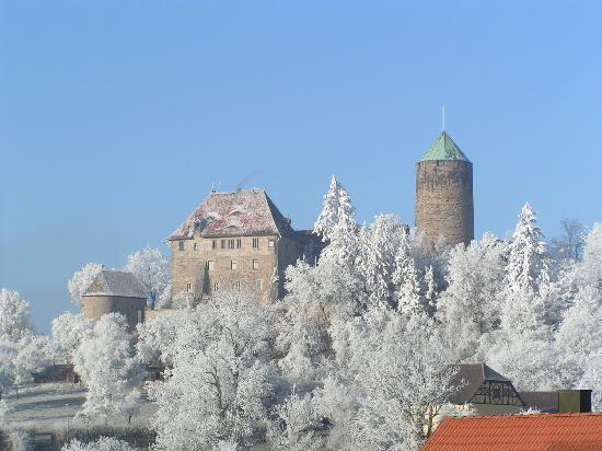 Hotel Burg Colmberg: Burg im Winter