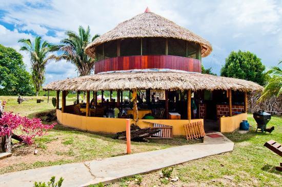 Amazon Turtle Lodge: Aqui é onde está localizado Restaurante, Recepção e Bar da pousada.