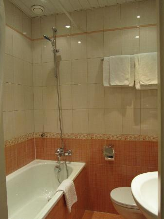 Nevskiy Hotel Aster: バスルーム(浴槽あり)