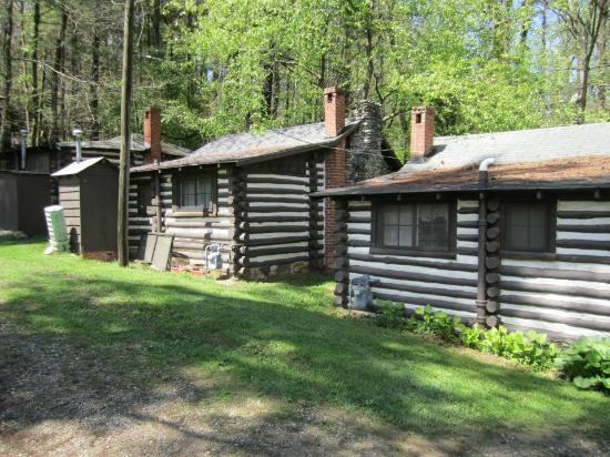 Grounds picture of log cabin motor court asheville for Tripadvisor asheville nc cabins