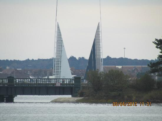 Upton Country Park: Poole's new 'Twin Sails' Bridge (open)