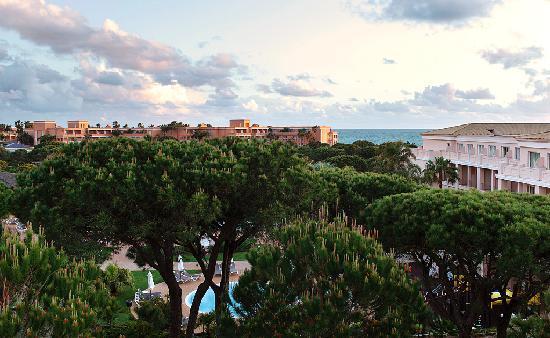 Valentin Sancti Petri Hotel Chiclana: Vista desde el balcón de nuestra habitación