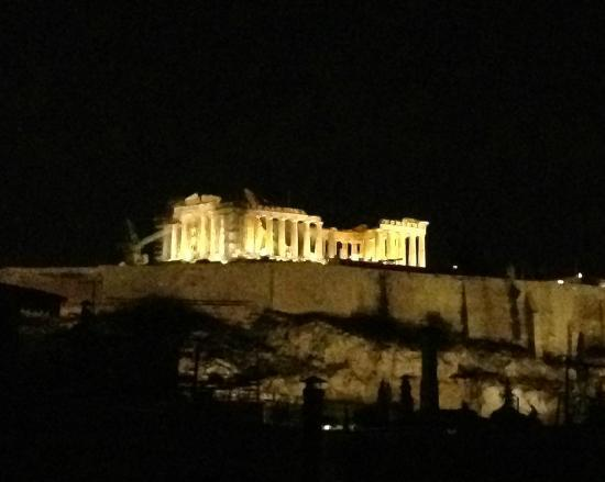 Acropolis Hill Hotel: View of the Acropolis from the rooftop terrace