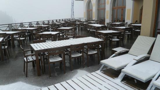 Club Med Valmorel: la térrasse du restaurant