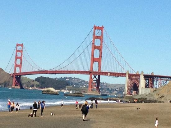 Golden Gate Bridge Good View Form Baker Beach Near
